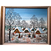 "Original Oil Painting by ""A Kowalski (1926-)"" - Winter Fantasy"