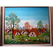 "Original Oil Painting by ""A Kowalski (1926-)"" - Springtime"