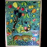 "Original Oil Painting by ""Gabriel Coutard (1960 - ) - Jungle Landscape"