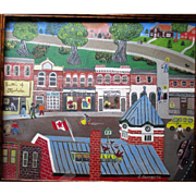 "Original Naive or Folk Art Oil Painting from Muskoka, Ontario - ""J Barnes"""