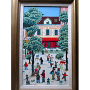 Original French Naive or Folk Art Oil Painting - Alexis - Le Cadet de Gascogne