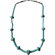Fabulous Turquoise Nugget Necklace