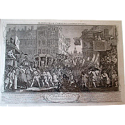 Antique Hogarth Print - Industry and Idleness  - Lord Mayor of London - Plate 12