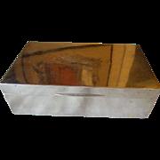 Stunning English Sterling Silver Cigar / Cigarette Humidor / Box