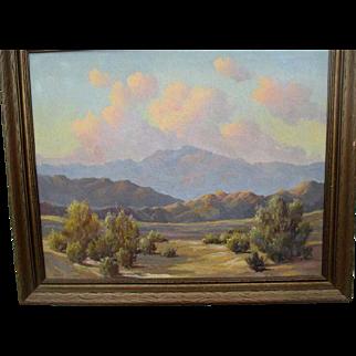 "Original Desert Scene Oil Painting by ""Charles Damrow (1916-1989)"""