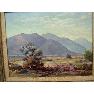 "Original Desert Landscape Oil Painting - ""O. Favor"""