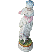 Vintage Large German Porcelain Figurine
