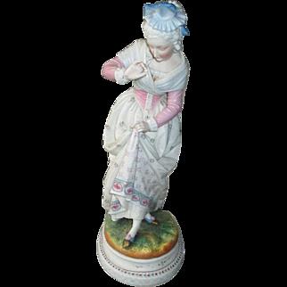 Vintage Large German Porcelain Figurine