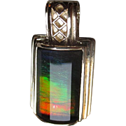 Gorgeous 14k Gold and Ammolite Pendant
