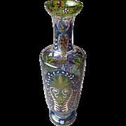 Gorgeous Enamel Painted Bohemian Tall Vase