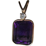 Stunning 14k Gold and Amethyst Pendant