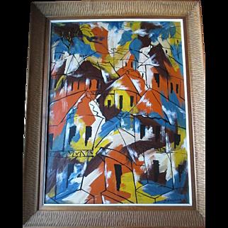 "Original Oil Painting by Haitian Artist ""Paul Beauvoir(1932-1972)"""
