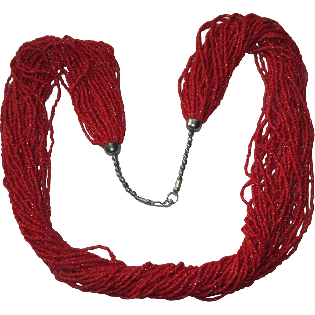 Gorgeous Multi-Strand Coral Bead Necklace