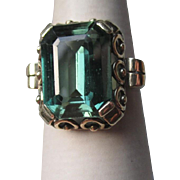 Stunning 14k Gold and Tourmaline Ring