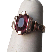 Beautiful 14k Gold and Rhodolite Garnet Ring