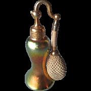 "Great Steuben Gold Aurene ""DeVilbiss"" Perfume Atomizer"