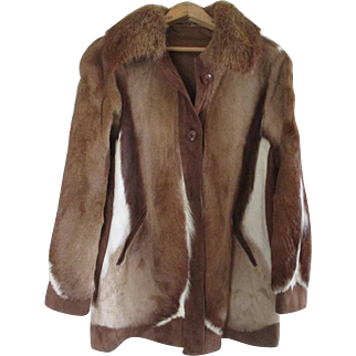 Stunning  Cow Fur / Hide Women's Jacket