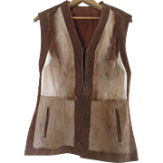 Stunning  Cow Fur / Hide Women's Reversible Vest