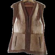Stunning  Cow Fur / Hide Women's Reversible Vest