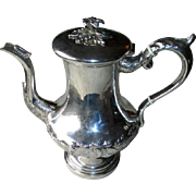 "Early 1800's ""Thomas Whartenby"" Coin Silver Repousse Coffee Pot"