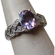 Beautiful Sterling Silver and Amethyst Ring