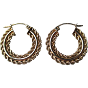 10k Gold Hoop Style Earrings