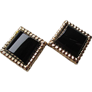 Gorgeous 14k Gold and Black Onyx Earrings