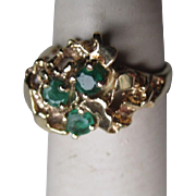 Gorgeous 14k Gold and Emerald Ring