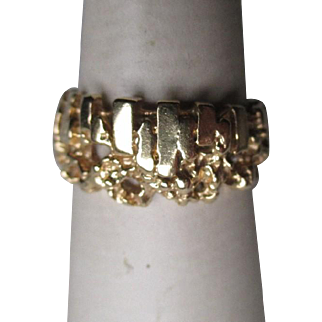 Great 14k Gold Nugget Style Ring