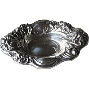 Frank M. Whiting Art Nouveau Sterling Silver Nut Dish