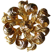 Gorgeous 18k Gold Tiffany Pin / Brooch