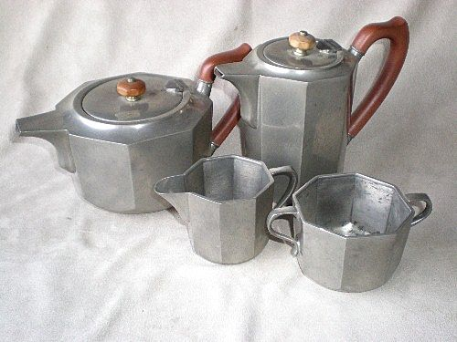 "Marvelous ""Liberty & Co."" Tudric Pewter Tea / Coffee Set"