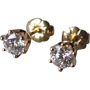 Beautiful 14k Gold and 0.50cttw Diamond Stud Earrings