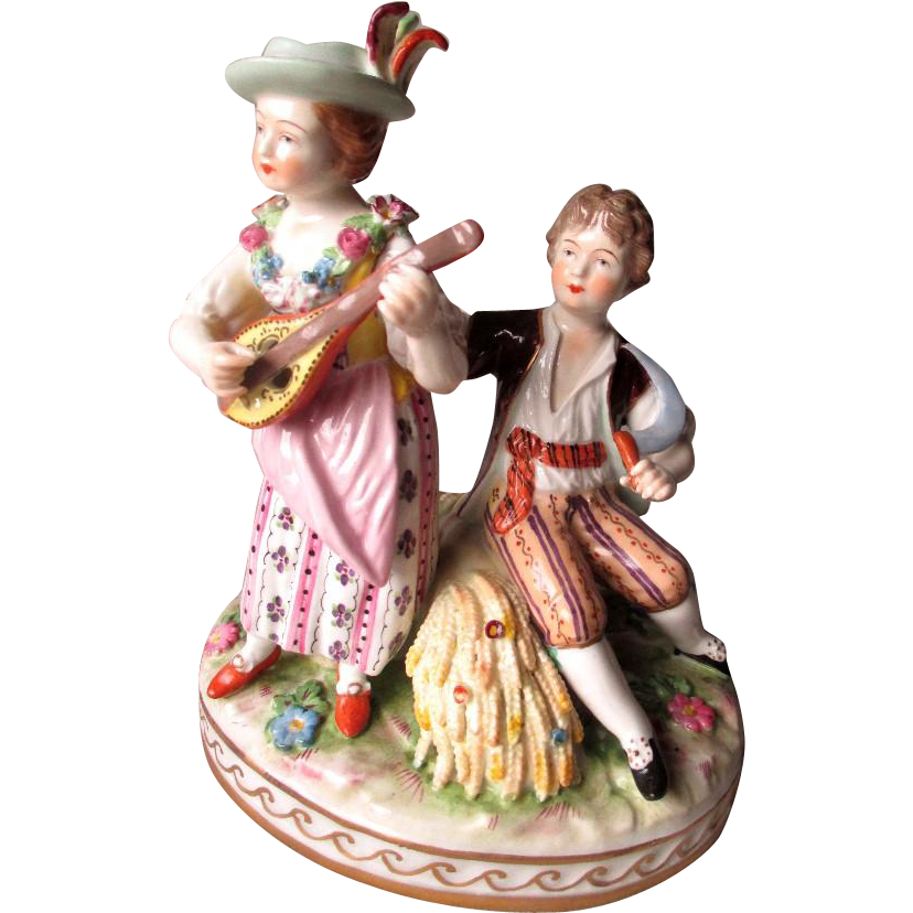 "Beautiful ""Carl Thieme"" Dresden Figurine"
