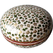 Early Satsuma Covered Dresser Box - Mille Fluer - 1000 Flowers