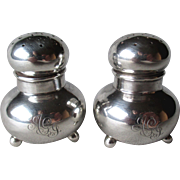 Fabulous Footed Sterling Silver Salt & Pepper Shakers