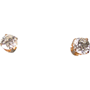 Stunning 1.3 tctw Diamond Solitarie Stud Earrings