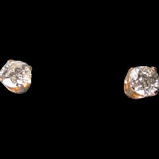 Stunning 1.3 tctw Diamond Solitarie Stud Earrings