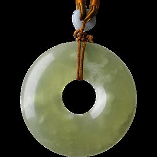 Gorgeous Light Green Jade Pendant Necklace
