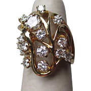 Beautiful 14k Gold and Multiple Diamond Ring - WOW!!