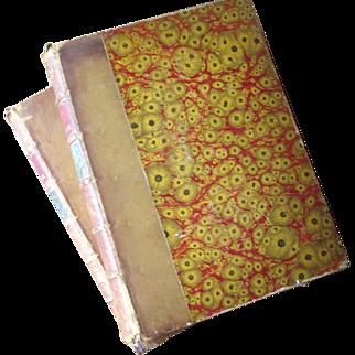 "1883 Two Volume ""Fables de la Fontaine"" Illustrated"