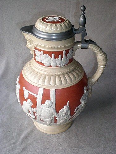 "Magnificent ""Mettlach"" Stein / Serving Pitcher"