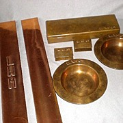 Magnificent Dirk van Erp Hand Planished Desk Set