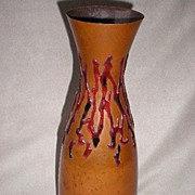 Wonderful Arts & Crafts Period Copper / Enamel Vase