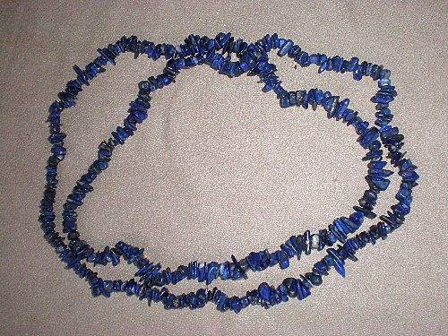 Fabulous Lapis Nugget Necklace