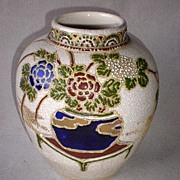 Stunning Nippon Moriage and Beaded Vase