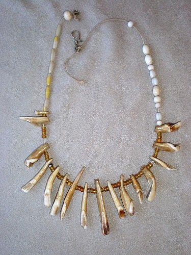 Fabulous Boars Tooth Necklace from Panama