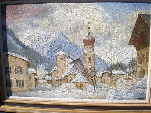 Original Oil Painting -  Richard G. Packer (1916-1998)