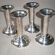 Four Matching Whiting Sterling Silver Candle Sticks