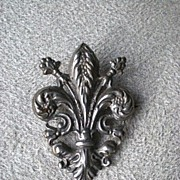 Fabulous Victorian 800 Silver Fleur d' Lis Pin / Brooch